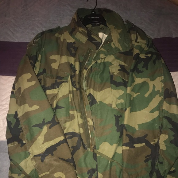 Other - Authentic army fatigue jacket